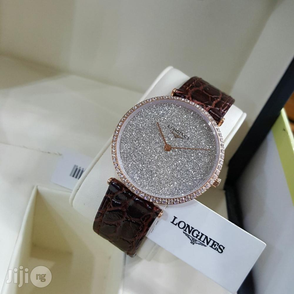 Archive: Longines Ice Brown Leather Wristwatch