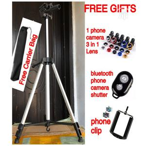 Tripod Stand With 3 in 1 Phone Len Camera Bluetooth Shutter | Accessories & Supplies for Electronics for sale in Lagos State, Lekki
