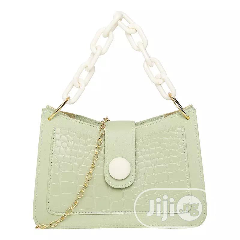 Archive: Crocodile Pattern Mini Shoulder Bag Shoulder White