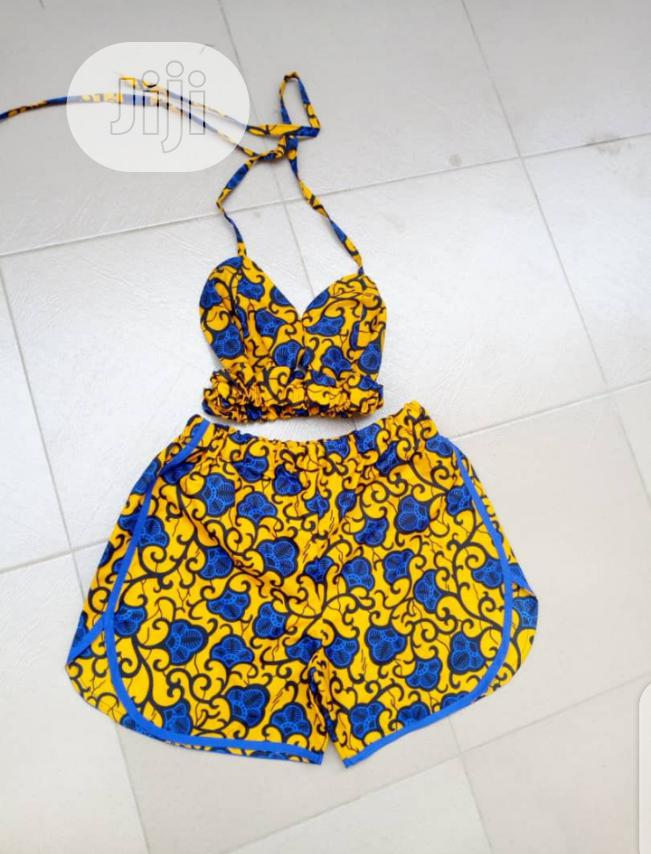 Archive: African Print Bikini Top and Short / Playsuit