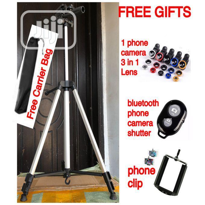 Phone Camera Tripod Portable Adjustable Flexible Stand
