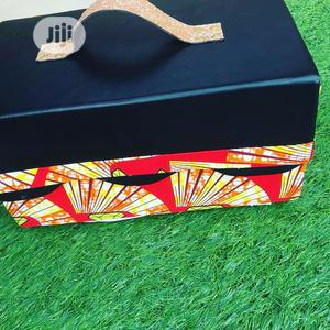 Ankara/Black Leather Box | Arts & Crafts for sale in Lagos State, Abule Egba