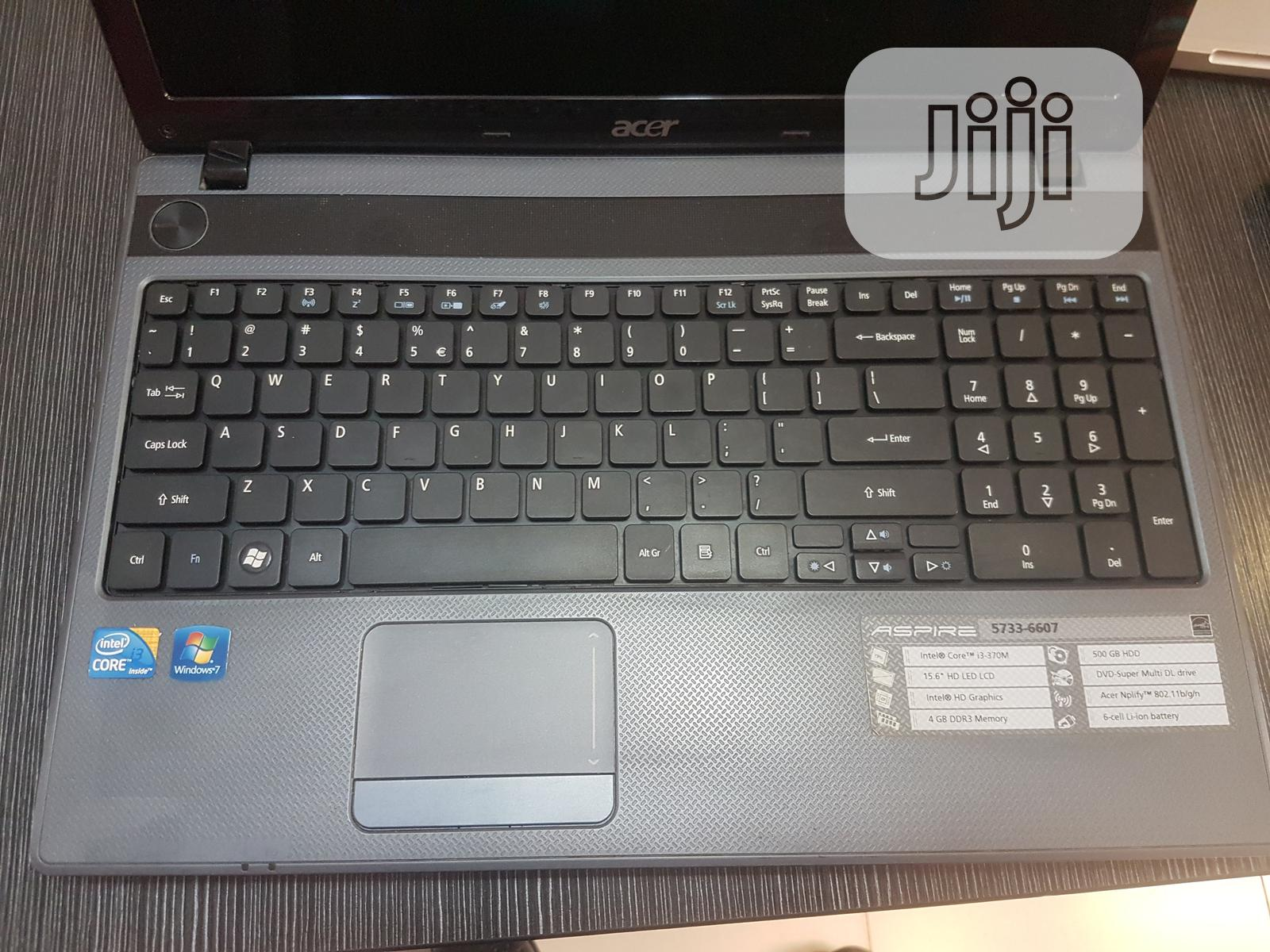 Archive: Laptop Acer Aspire 5733 4GB Intel Core I3 HDD 320GB