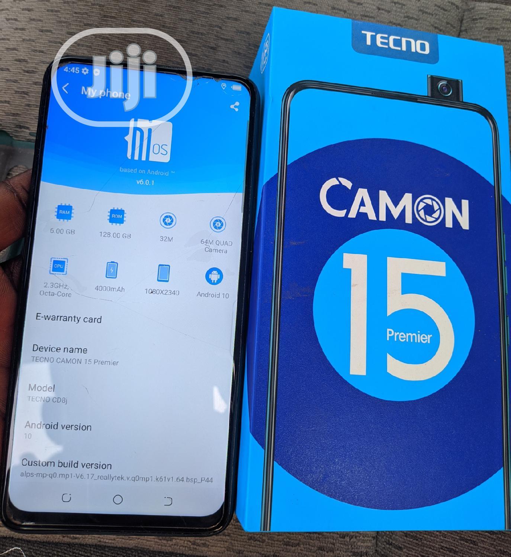 Tecno Camon 15 Premier 128 GB Blue | Mobile Phones for sale in Ibadan, Oyo State, Nigeria