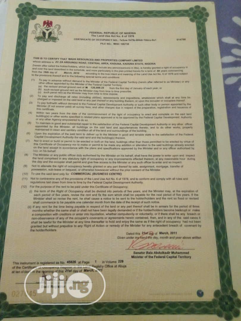 4600sqm Commercial Plot at Gwarinpa Off 3rd Avenue for Sale | Land & Plots For Sale for sale in Gwarinpa, Abuja (FCT) State, Nigeria