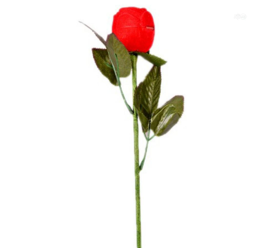 Red Rose Flower Ring Case