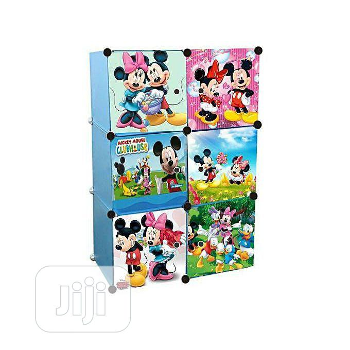 6doors Mickey Minie Storage Wardrobe Cabinet