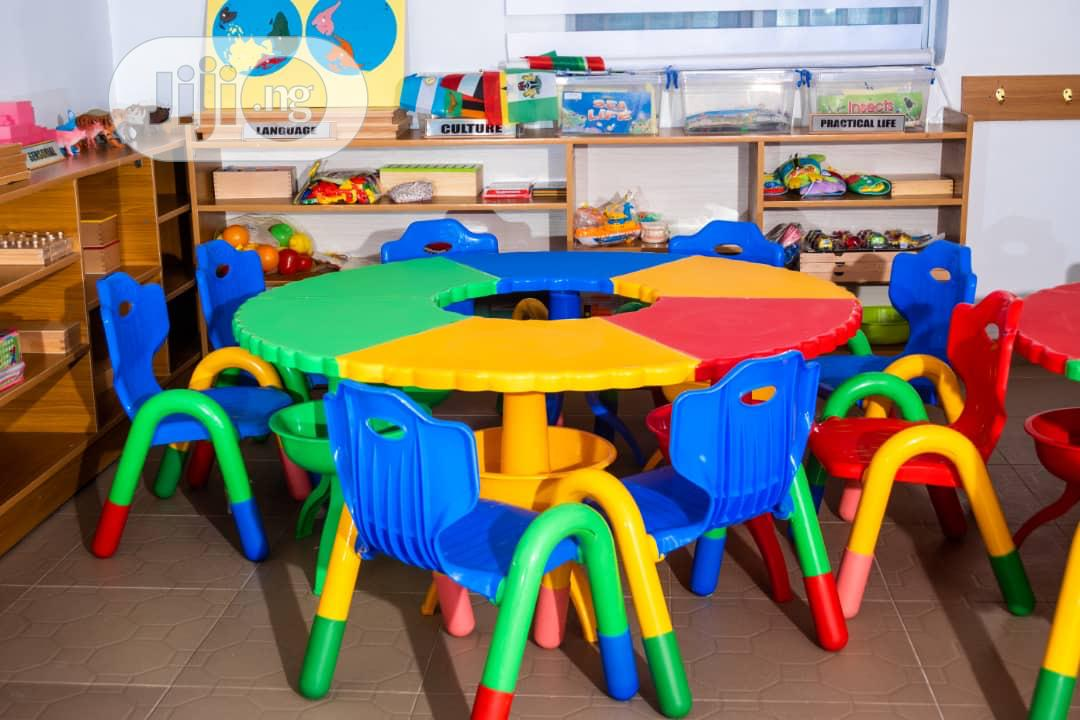 Colorful Round Table