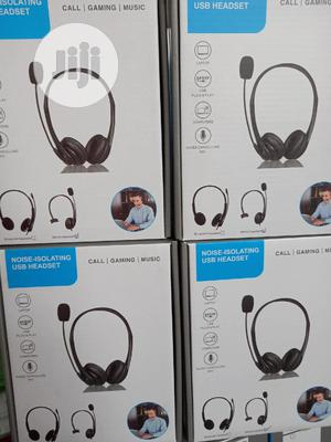 Noise Cancelling USB Headset With Microphone   Headphones for sale in Lagos State, Ikeja