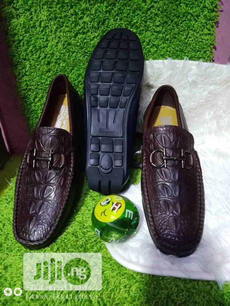 Crocodile Skin Leather Shoe for Men