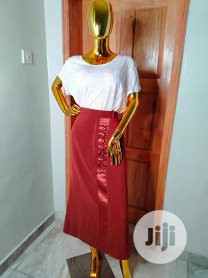 Chocolate Brown Straight Skirt.   Clothing for sale in Lagos State, Abule Egba