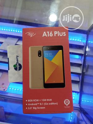 New Itel A16 Plus 8 GB Gold   Mobile Phones for sale in Lagos State, Isolo