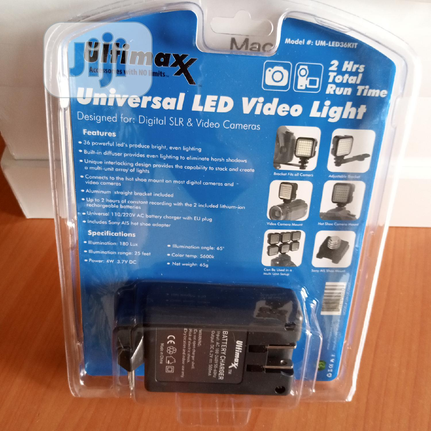Archive: Ultimax Universal Led Video Light