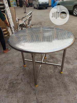 Higher Quality Round Stainless Steel Multipurpose Table   Furniture for sale in Lagos State, Badagry