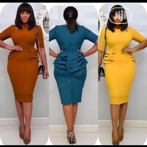 Ladies Fitted Short Gown | Clothing for sale in Lagos State, Ikeja