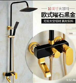 Black And Gold Standing Shower   Plumbing & Water Supply for sale in Lagos State, Orile