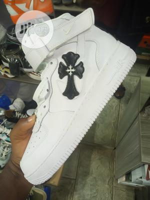 Nike High Top White Sneakers | Shoes for sale in Lagos State, Surulere