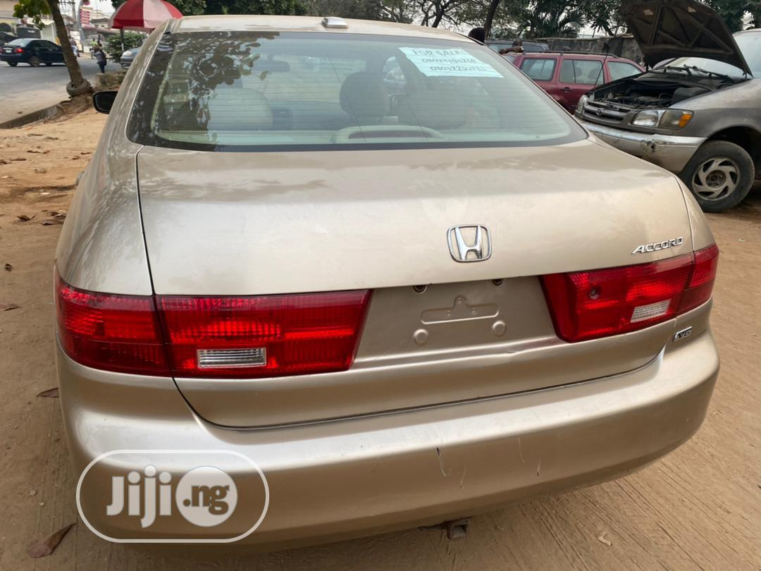 Honda Accord 2006 Sedan LX 3.0 V6 Automatic Gold | Cars for sale in Magodo, Lagos State, Nigeria