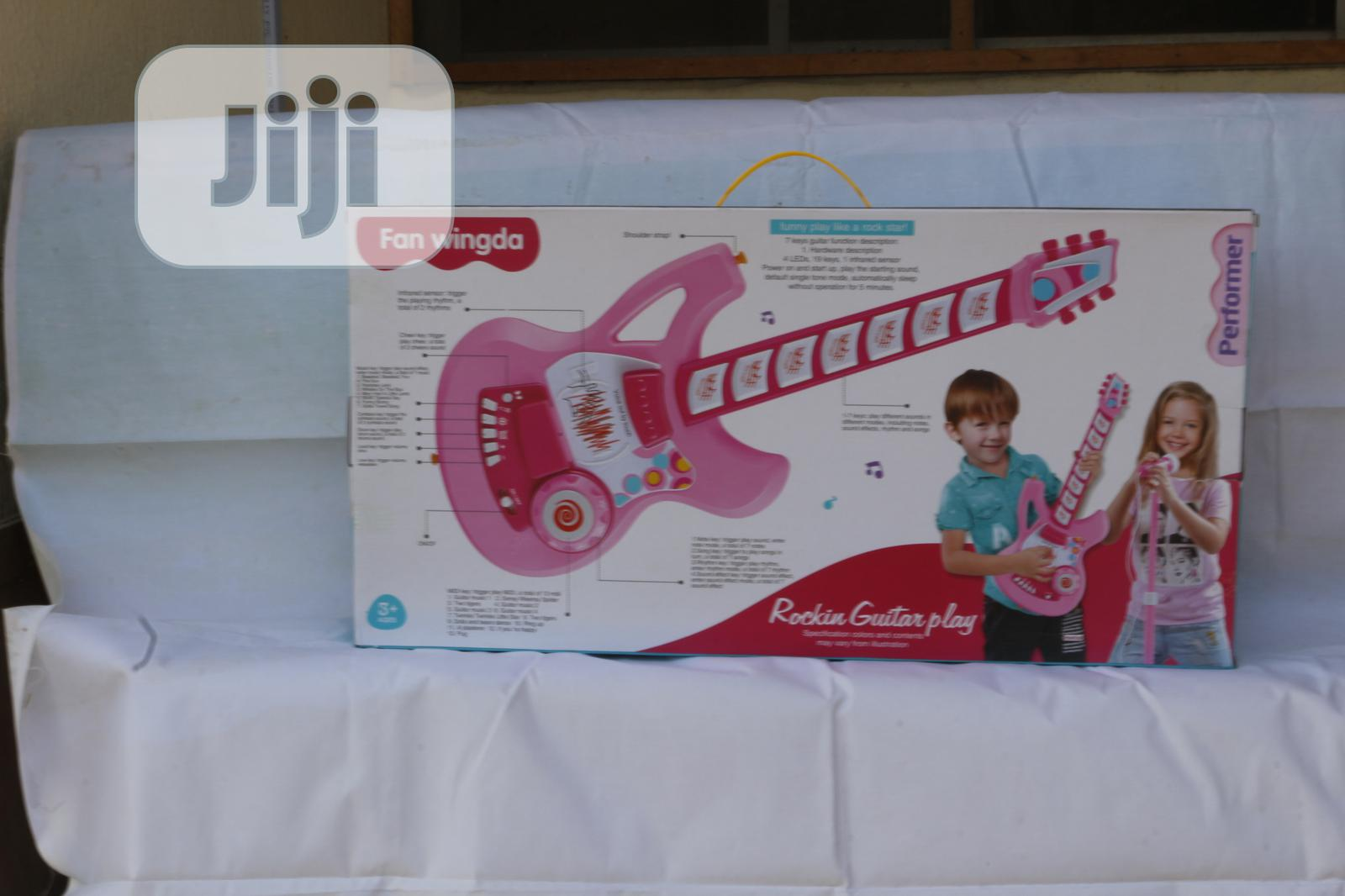Kids Guitar With Microphone Set and Stand | Toys for sale in Ikeja, Lagos State, Nigeria