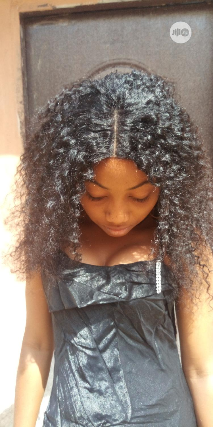 Human Hair Kinky Curly Wig | Hair Beauty for sale in Central Business Dis, Abuja (FCT) State, Nigeria