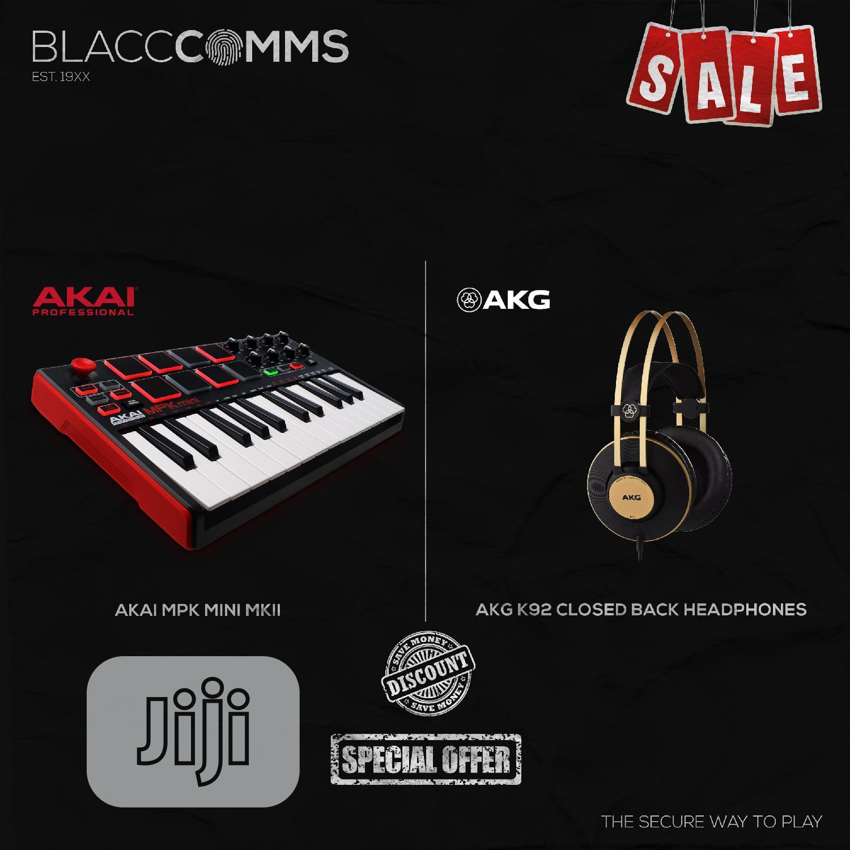 Archive: Akai MPK Mini MKII + AKG K92 Closed Back Headphones