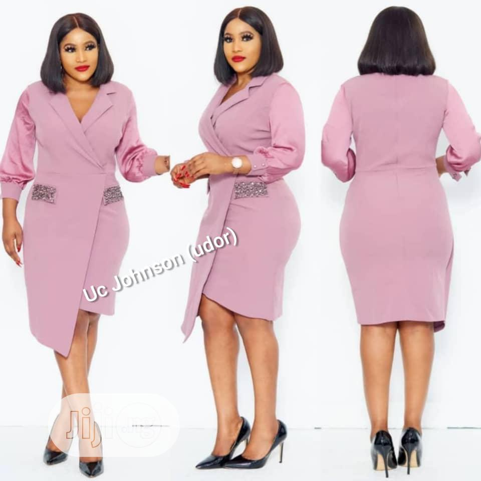 Quality Ladies Fitted Assymetric Gown
