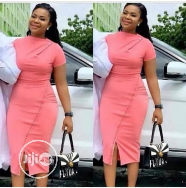 Quality Ladies Fitted Assymetric Gown | Clothing for sale in Ikeja, Lagos State, Nigeria