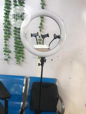 18inch LED Soft Ring Light With 3phone Holders and Remote | Accessories & Supplies for Electronics for sale in Lagos State, Ojodu