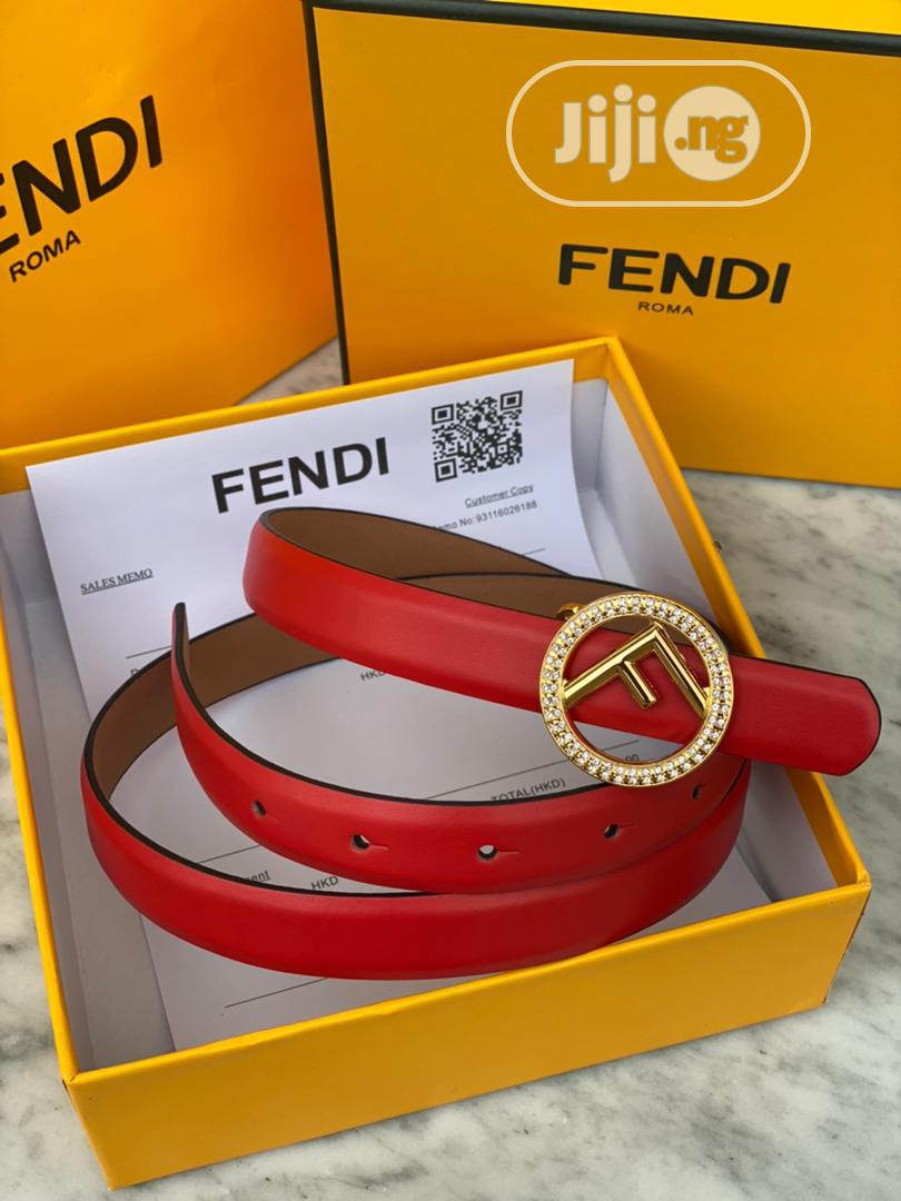 Archive: Fendi Belt Available in All the Displayed Colours