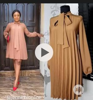 New Female Quality Pleated Long Sleeve Gown | Clothing for sale in Lagos State, Ikeja