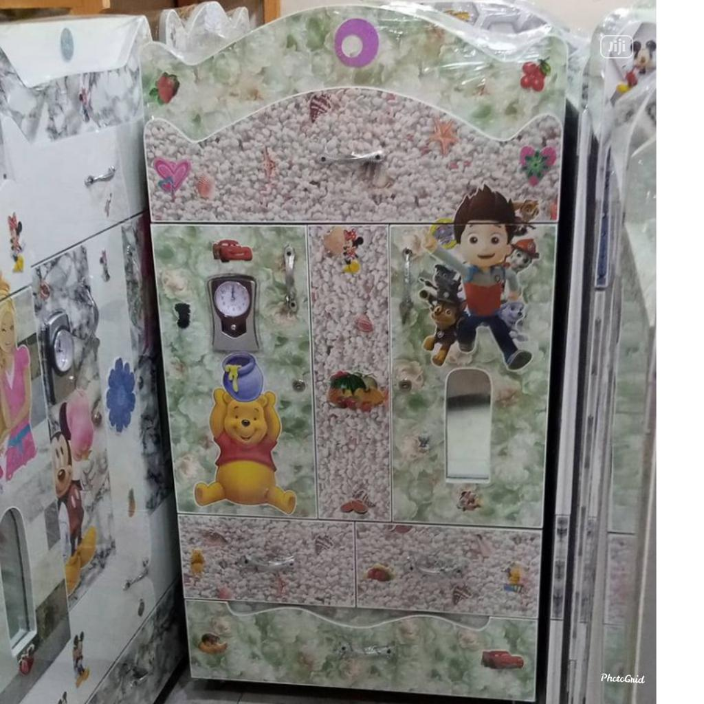 Baby Wooden Wardrobe White