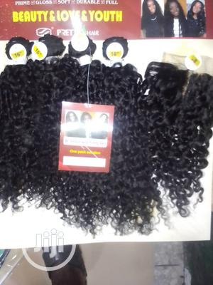 Kinky Human Hair With Closure | Hair Beauty for sale in Lagos State, Lagos Island (Eko)