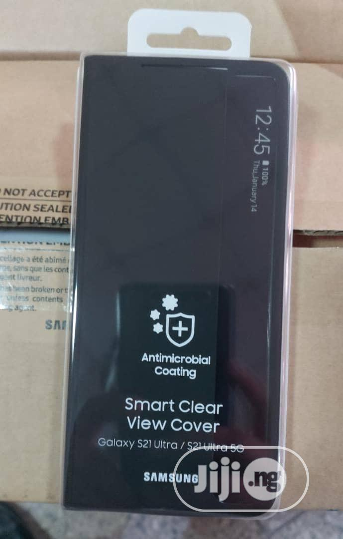 Samsung S21 Ultral Clear-View Case | Accessories for Mobile Phones & Tablets for sale in Ikeja, Lagos State, Nigeria