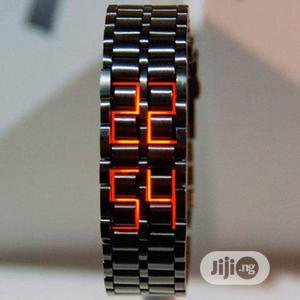 Black Full Metal Digital Lava Wrist Watch- Unisex   Watches for sale in Lagos State, Alimosho