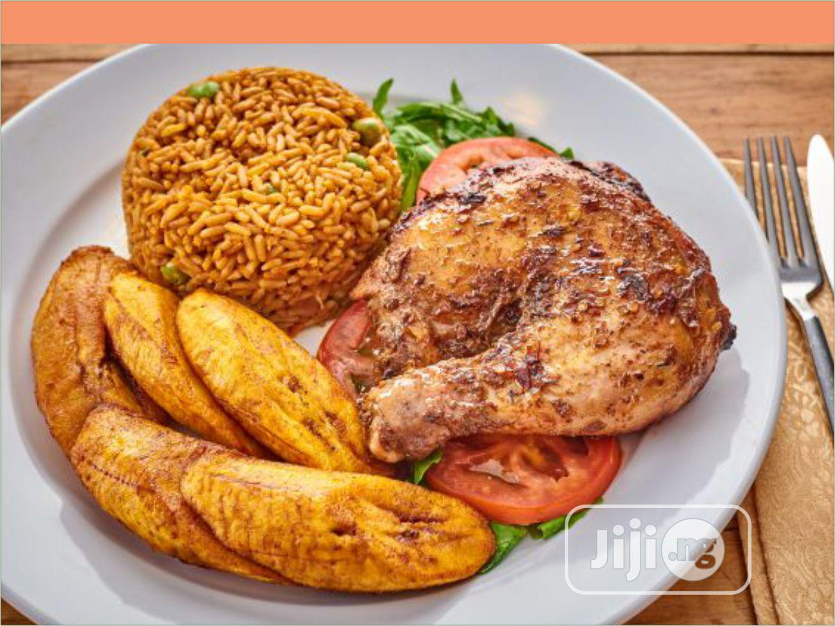 Sweet Jollof Rice With Chicken And Plantain
