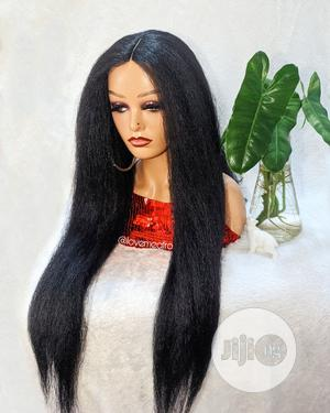 Kinky Straight Closure Wig | Hair Beauty for sale in Lagos State, Lekki