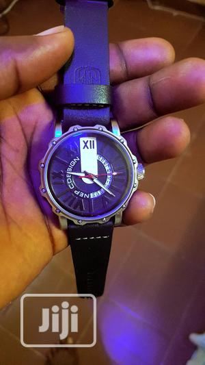 Nepic Design Black Leather Watch for Men | Watches for sale in Lagos State, Ikorodu