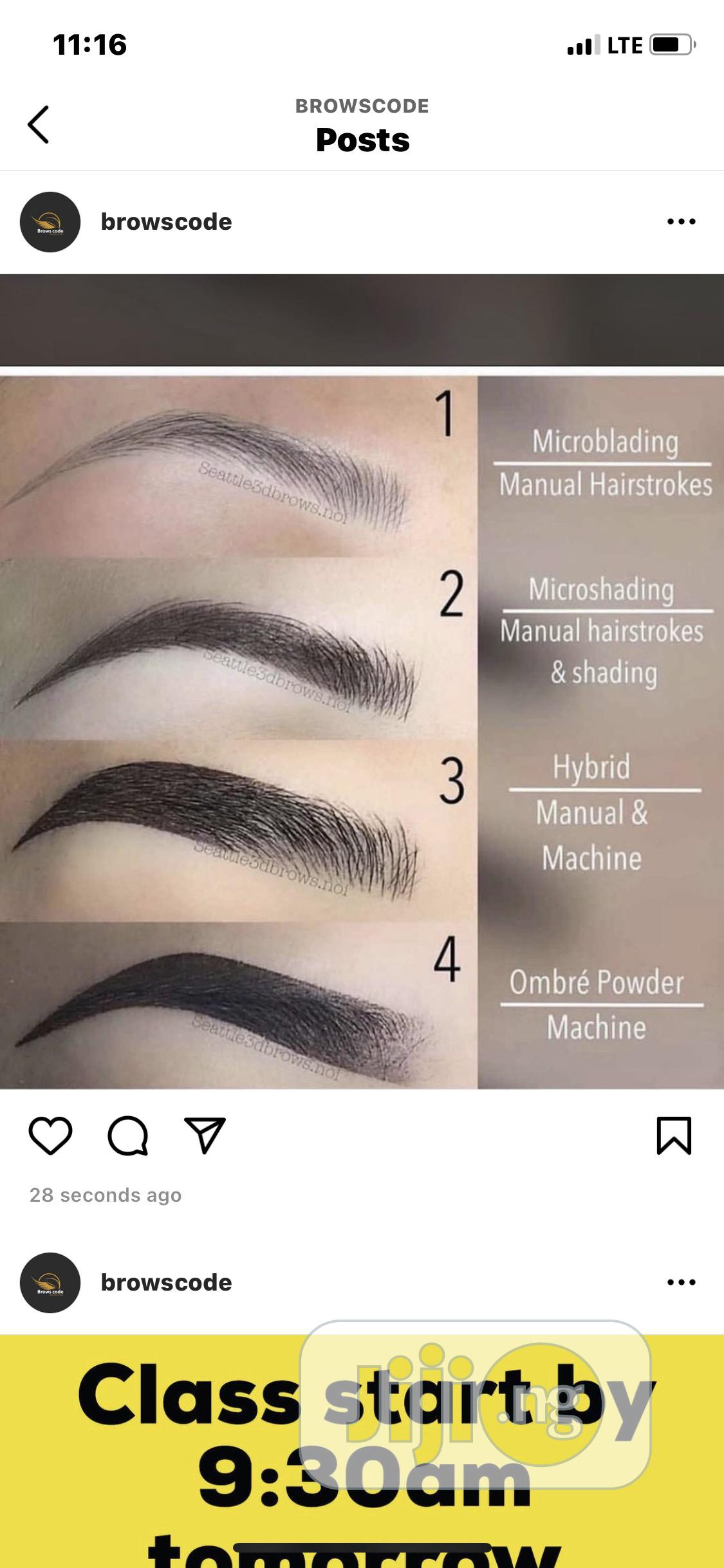 Semi Permanent Brows and Lashes | Health & Beauty Services for sale in Ikeja, Lagos State, Nigeria