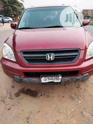 Honda Pilot 2004 EX 4x4 (3.5L 6cyl 5A) Red | Cars for sale in Lagos State, Lekki