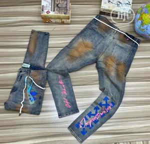 Off White Designer Jeans (High Grade)   Clothing for sale in Lagos State, Lekki