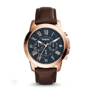High Quality Fossil Black Dial Leather Watch Watch   Watches for sale in Lagos State, Magodo