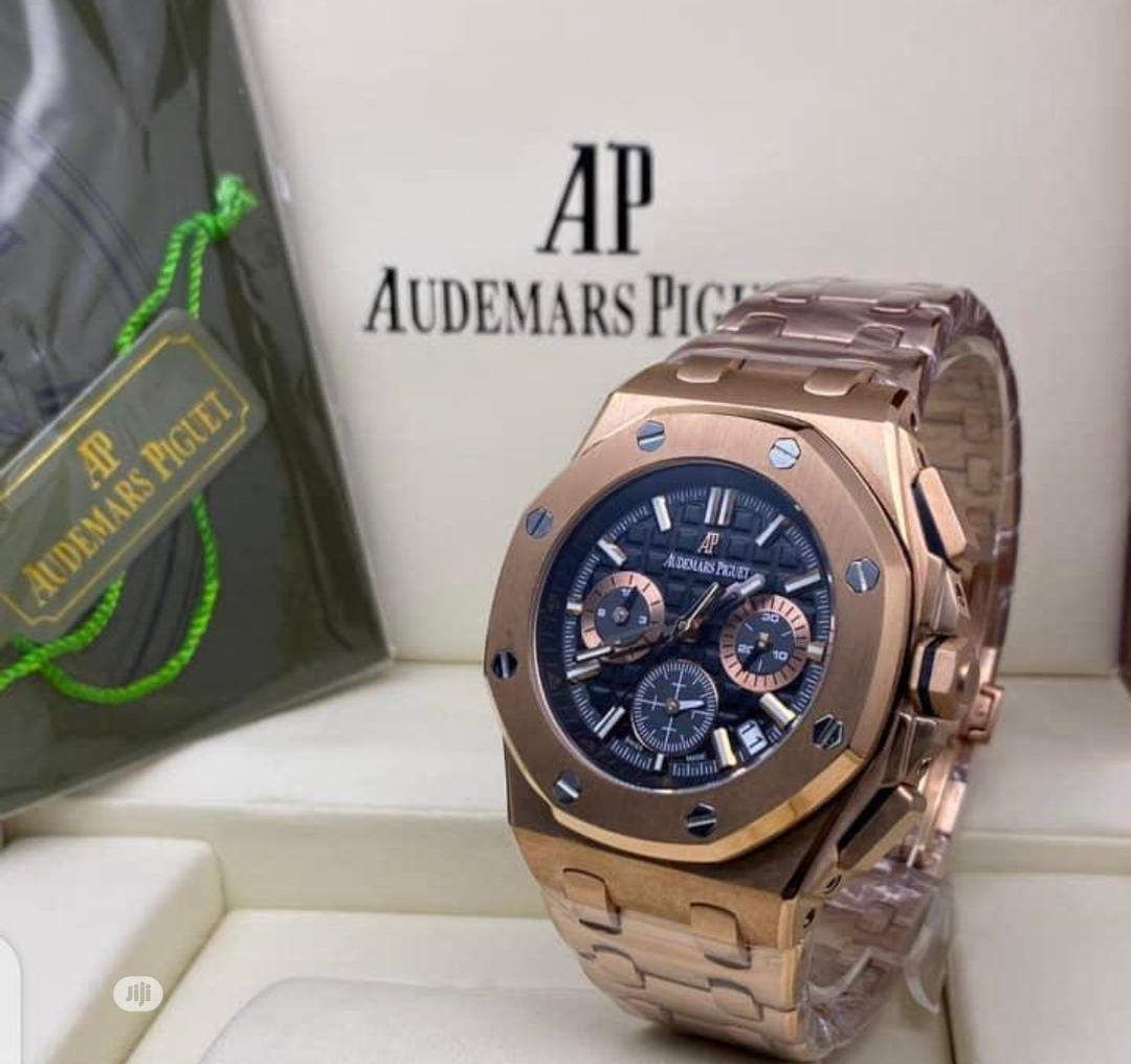 High Quality Audemars Piguet Black Dial Stainlesssteel Watch