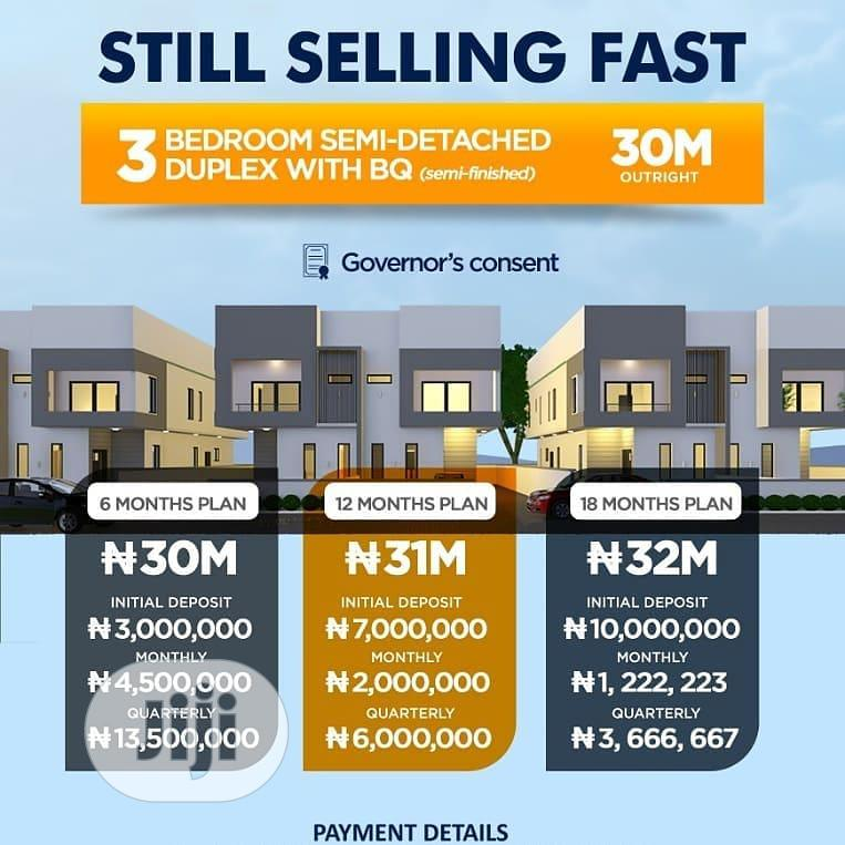 Spacious 3bedroom Semi Detached Duplex With a BQ in Lekki | Houses & Apartments For Sale for sale in Off Lekki-Epe Expressway, Ajah, Nigeria