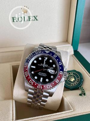 High Quality Rolex Silver Stainless Steel Black Dial Watch | Watches for sale in Lagos State, Magodo