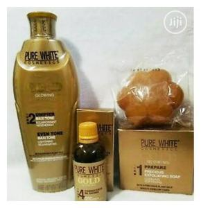 Pure White Gold Set ( Lotion, Soap and Serum)   Skin Care for sale in Lagos State, Amuwo-Odofin