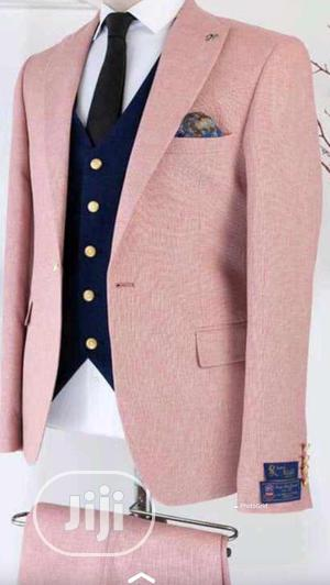 Turkish Pink Jacket With Black Waistcoat And Trouser | Clothing for sale in Lagos State, Lagos Island (Eko)