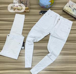 White Plain Jeans Available in Store (Quality)   Clothing for sale in Lagos State, Ikeja
