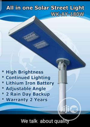 180w Solar Steet Light Iron Black Body.   Solar Energy for sale in Abuja (FCT) State, Central Business Dis