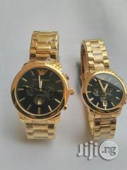 Emporio Armani Couple's Watch - Gold Strap | Watches for sale in Lagos State, Ikeja