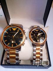 NEW Emporio Armani Couple's Watch - Gold and Silver Strap | Watches for sale in Lagos State, Ikeja